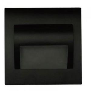 LED nástěnné schodišťové svítidlo BERYL černé 1,5W 9xSMD3014 12V DC studená bílá